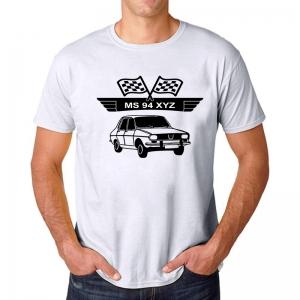 Tricou Personalizat cu nume sau numar auto - Dacia 13101