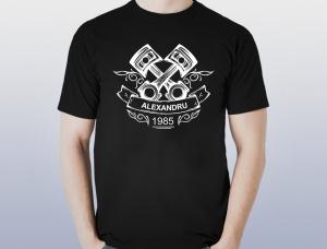Tricou Personalizat Auto - Nume si Anul Nasterii0