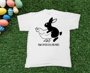 Tricou Personalizat de Paste - How Easter Eggs Are Made0