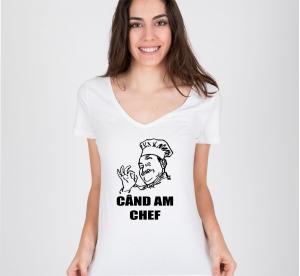 Tricou Personalizat - Chef cand am chef0