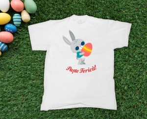 Tricou Personalizat - Paste Fericit0