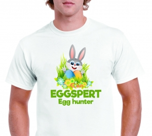 Tricou Personalizat de Paste - Eggspert Egg Hunter1