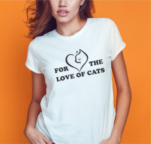 Tricou Personalizat - For The Love Of Cats1