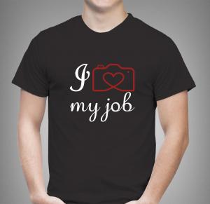 Tricou Personalizat Fotograf - I Love My Job1