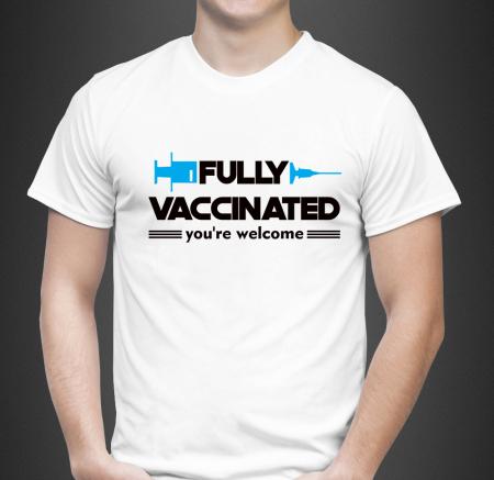 Tricou Personalizat - Fully vaccinated [1]