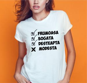 Tricou Personalizat Funny - Frumoasa si Desteapta [1]