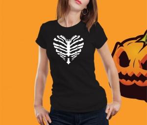 Tricou Personalizat Halloween - Bone Heart [0]