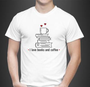 Tricou Personalizat - I Love Books And Coffee1