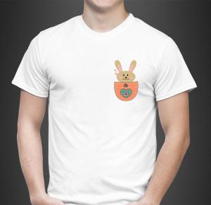 Tricou Personalizat - Iepuras in Buzunar1