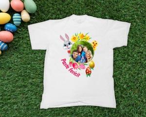 Tricou Personalizat de Paste cu Poza - Paste fericit! [0]