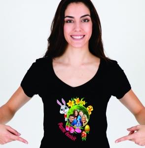 Tricou Personalizat de Paste cu Poza - Paste fericit! [1]