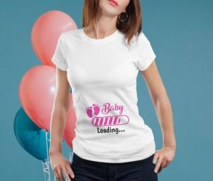 Tricou Personalizat Mamica - Baby Loading Fetita 11