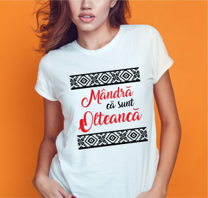 Tricou Personalizat - Mandra Ca Sunt Olteanca0