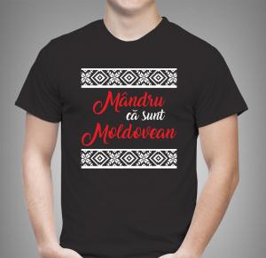 Tricou Personalizat - Mandru Ca Sunt Moldovean1