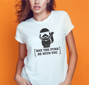 Tricou Personalizat - May The Purr Be With You1