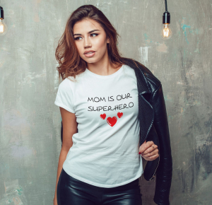 Tricou Personalizat - Mom Is Our Superhero0