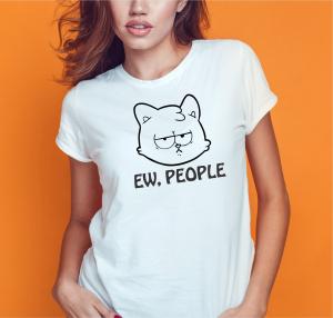 Tricou Personalizat Pisici - Ew, People0