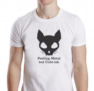 Tricou Personalizat Pisici - Feeling Metal And Cute-ish0