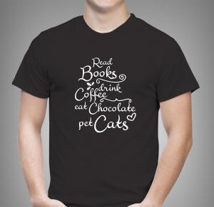 Tricou Personalizat - Read Books, Drink Coffee1