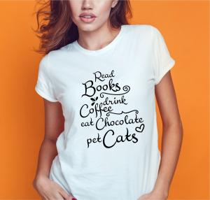 Tricou Personalizat - Read Books, Drink Coffee0