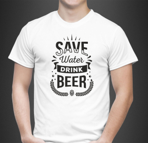 Tricou Personalizat - Save Water Drink Beer1
