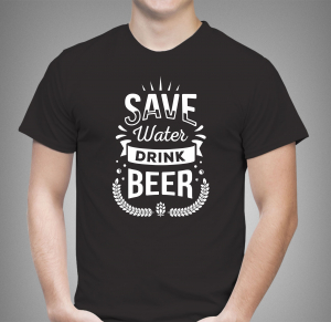 Tricou Personalizat - Save Water Drink Beer0