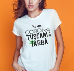 Tricou Personalizat #stamacasa - Nu Am Corona, Tuseam De La Iarba0