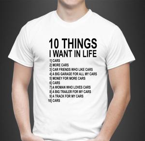 Tricou Personalizat - Ten things I want1