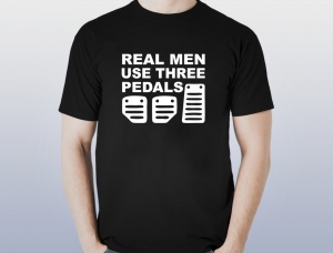Tricou Personalizat - Real men use three pedals [0]