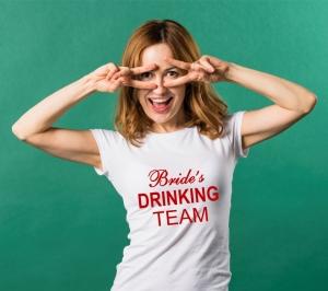 Tricou Petrecerea Burlacitelor - Bride's Drinking Team [1]