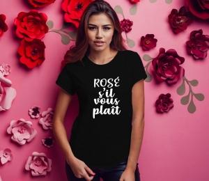Tricou Petrecerea Burlacitelor - Rose S'il Vous Plait [0]