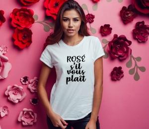 Tricou Petrecerea Burlacitelor - Rose S'il Vous Plait [1]