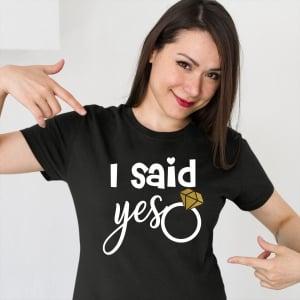 Tricou Petrecerea Burlacitelor - I said yes1