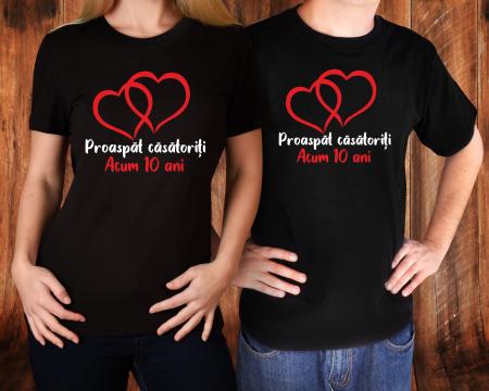 Tricouri Cuplu Personalizate - Aniversare Casatorie [1]