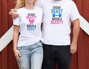Tricouri Cuplu Personalizate - Beauty And Beast 2 [1]