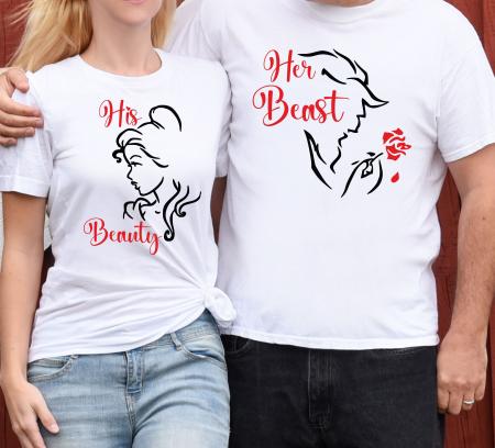 Tricouri Cuplu Personalizate - Beauty And The Beast [0]