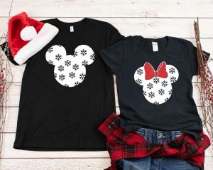 Tricouri Cuplu Personalizate Craciun - Mickey And Minnie0
