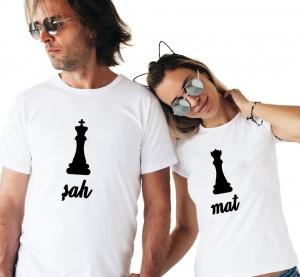 Tricouri Cuplu Personalizate - Sah Mat1