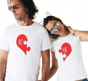 Tricouri Cuplu Personalizate - Love puzzle0