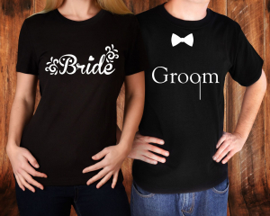 Tricouri Cuplu Personalizate - Groom And Bride1