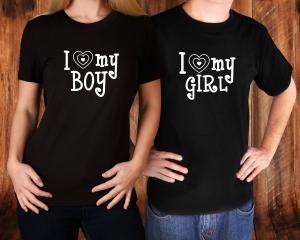 Tricouri Cuplu Personalizate - I love My Boy / Girl1