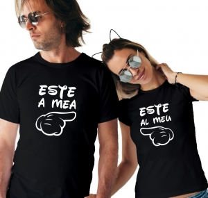 Tricouri Cuplu Personalizate - Este al meu / Este a mea1