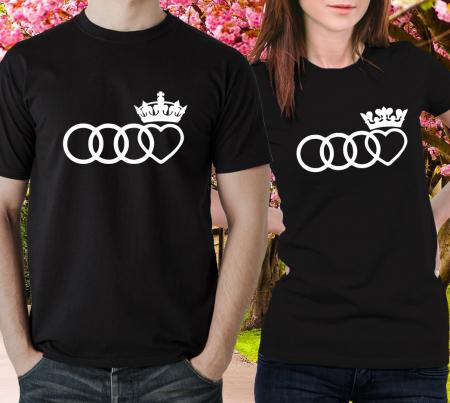 Tricouri Cuplu Personalizate - Audi King and Queen [1]