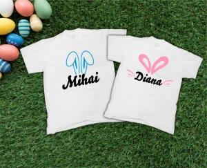 Tricouri Cuplu Personalizate de Paste cu nume si urechi [0]