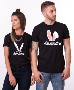 Tricouri Cuplu Personalizate de Paste cu nume si urechi 2 [2]