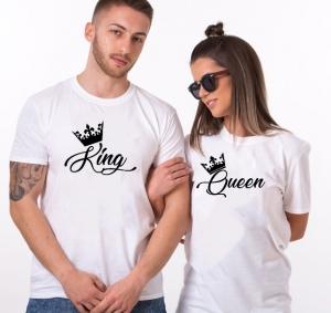Tricouri Cuplu Personalizate - King / Queen1