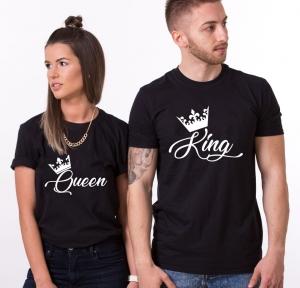 Tricouri Cuplu Personalizate - King / Queen0