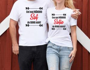 Tricouri Cuplu Personalizate - Cel mai mandru sot/sotie0