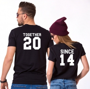 Tricouri Cuplu Personalizate - Together since [0]