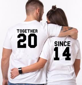 Tricouri Cuplu Personalizate - Together since [1]